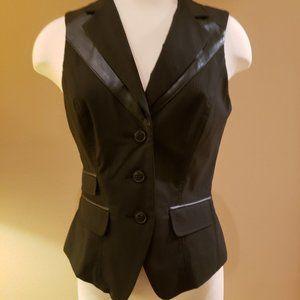 bebe Black Pinstripe Vest